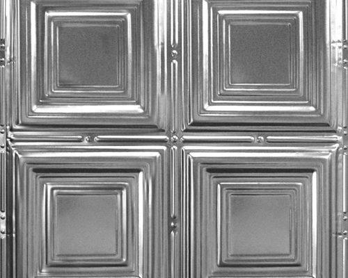 Stalen plafondtegel rvs geborsteld met patroon