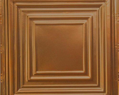 Koperen plafondtegel met patroon