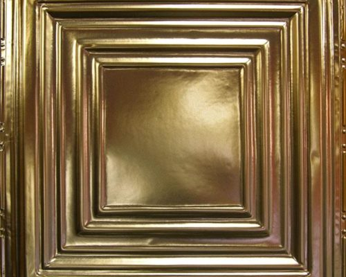 Gouden plafondtegel glanzend met patroon
