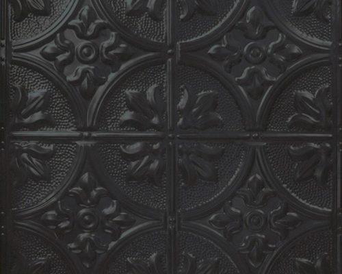 Stalen wandtegel zwart met patroon