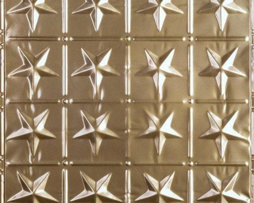 Wandtegel 24k goud glanzend met patroon van sterren voor een exclusieve uitstraling