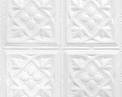 Stalen wandtegel wit met patroon