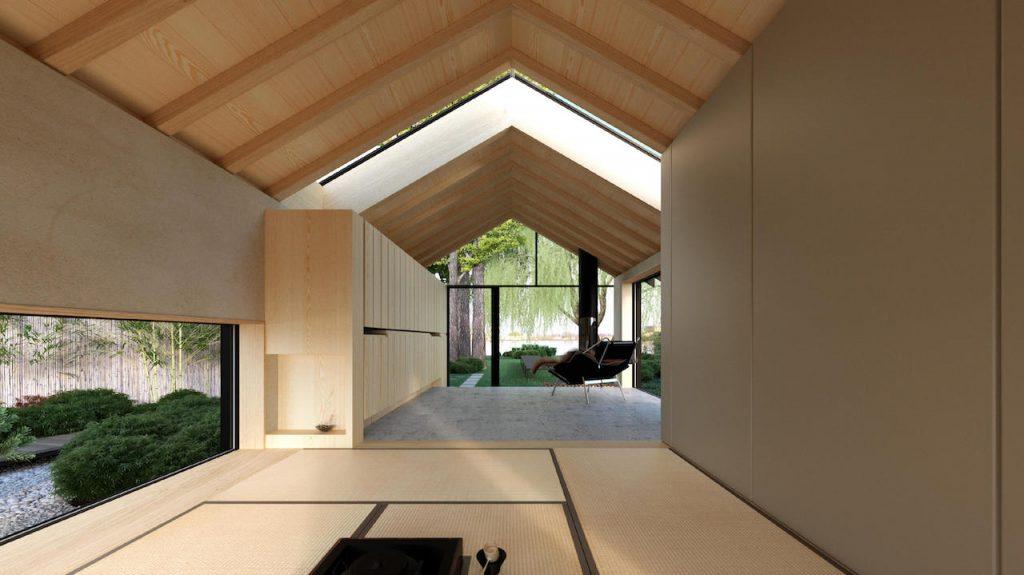 Een tiny house met prachtige doorkijk naar buiten door stalen gevel